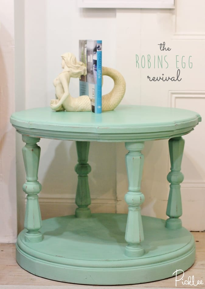 chalk paint-robins egg- table1