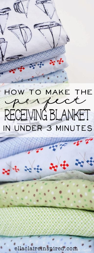 diy receiving blanket