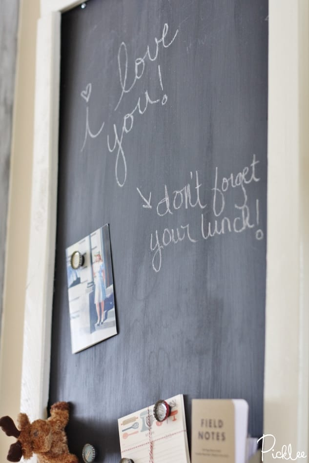 diy-sheet-metal- magnetic-chalkboard