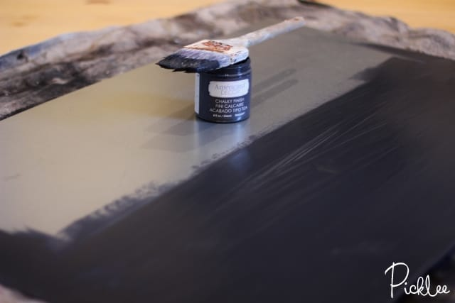 How To Apply Chalkboard Paint To Metal
