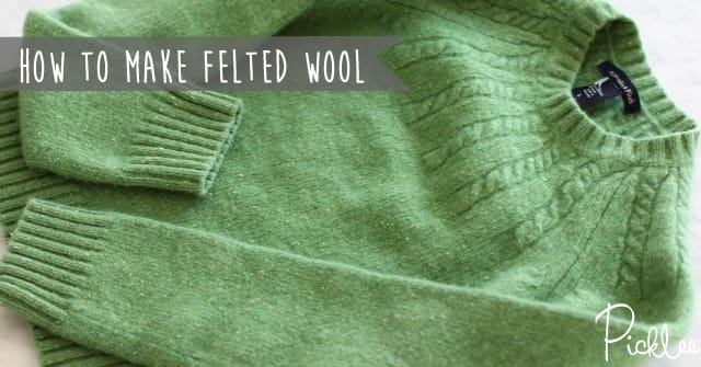 how to mak felted wool