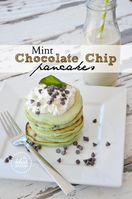 mint chocolate pancakes