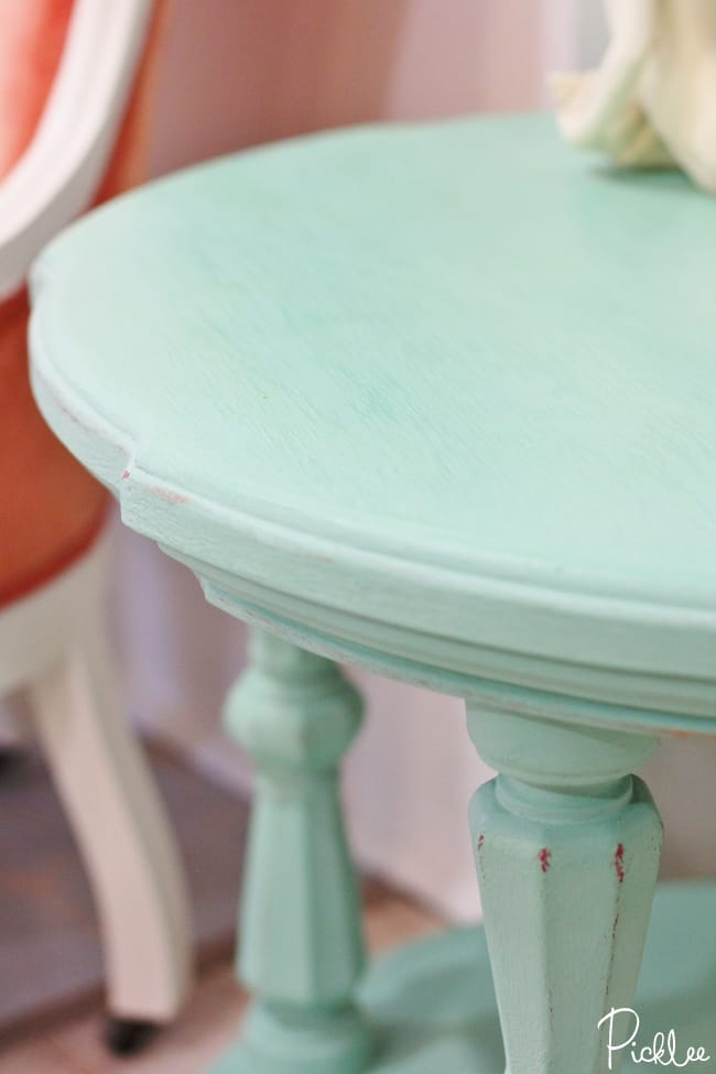 robins egg paint coffee table-chalk paint