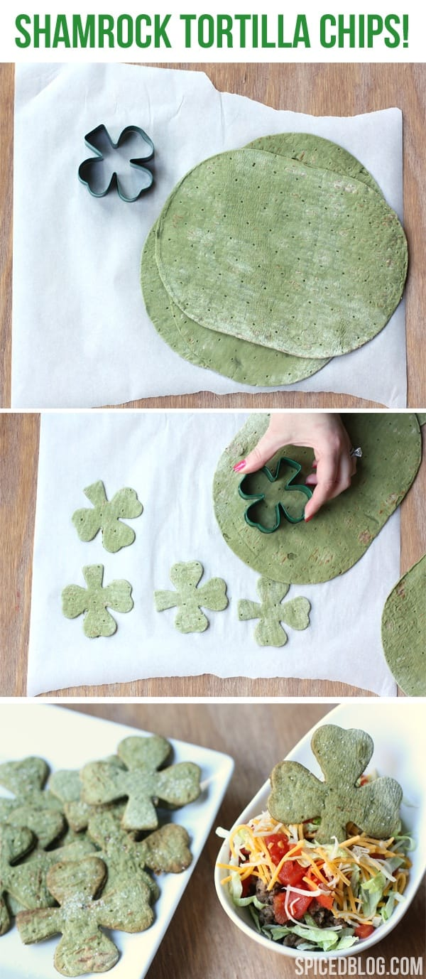 st pattys day tortilla chips