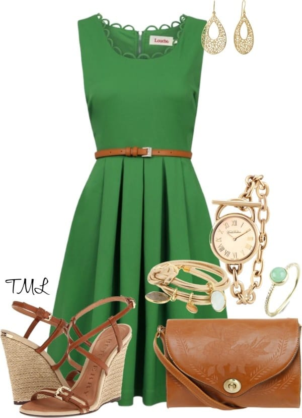 st pattys green dress