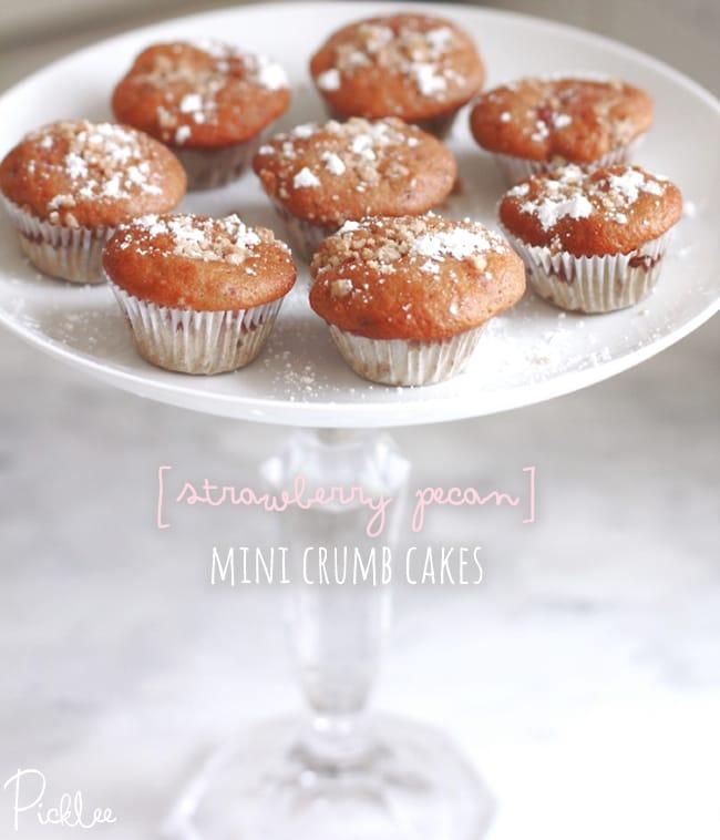 strawberry pecan crumb cakes