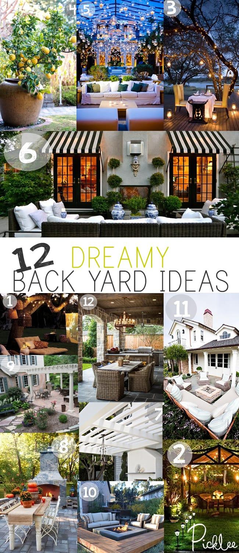 12 Dreamy Back Yard Ideas [inspiration]
