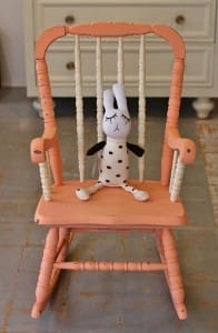 chalk painted chair-kids
