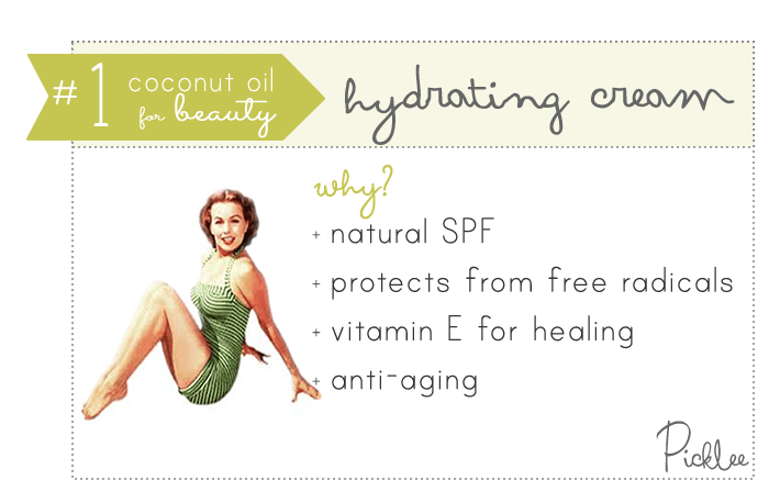 coconut oil uses-hydrating cream