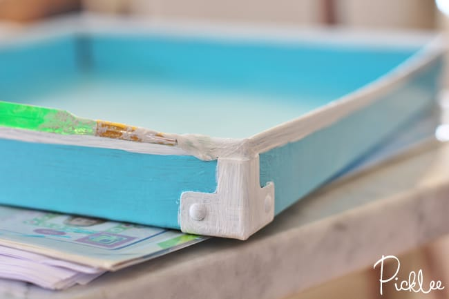 diy lacquer tray