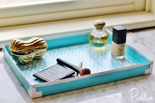 diy makeup tray-cardboard