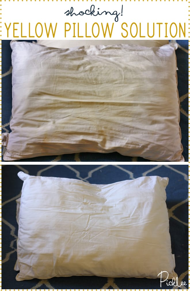 how-to clean-yellow-pillows-solution