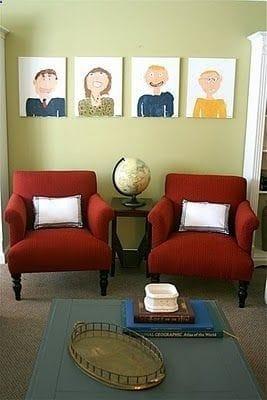 kids family portrait