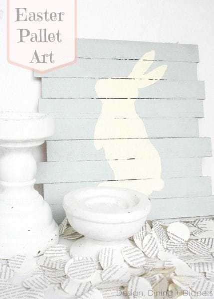 bunny pallet art