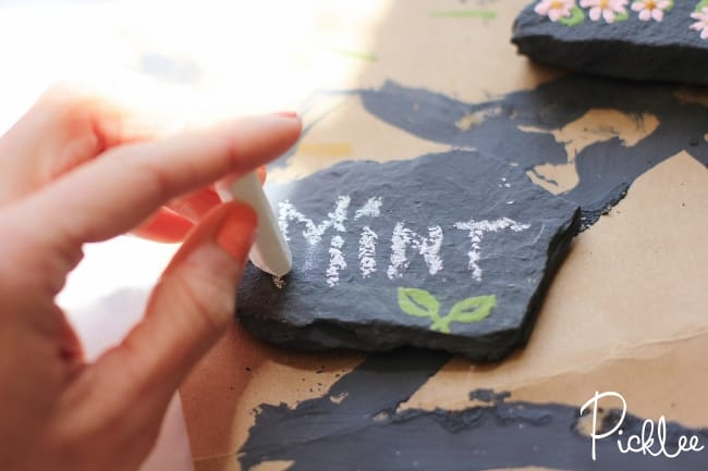 chalky finish garden marker rocks4