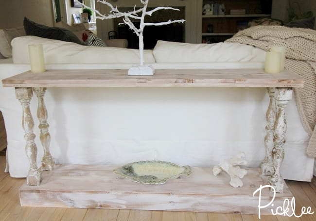DIY Reclaimed Sofa Table [tutorial] - Picklee