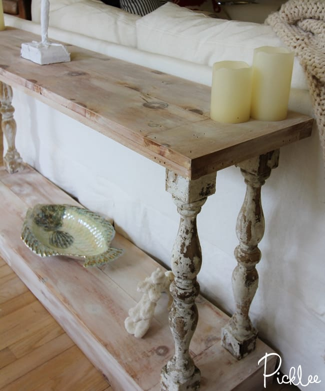 DIY Reclaimed Sofa Table [tutorial] Picklee