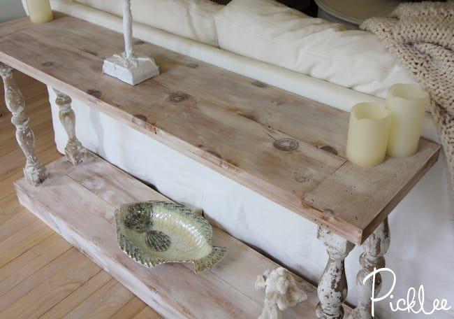 Diy sofa table Small Diyreclaimedsofatable8 Picklee Diy Reclaimed Sofa Table tutorial Picklee