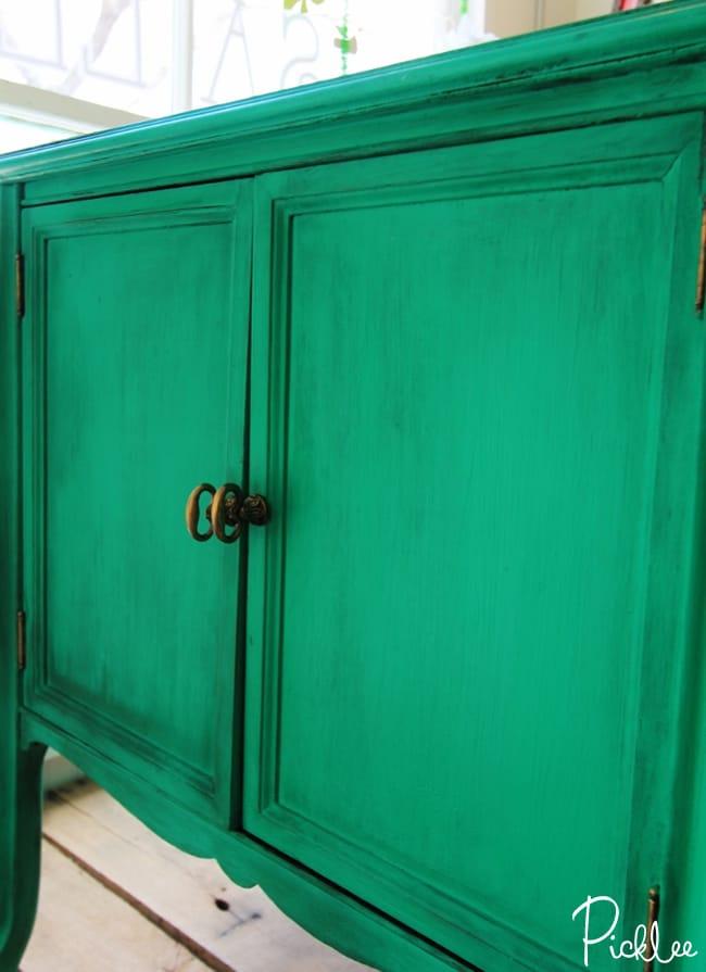 Beau Emerald Green Cabinet Chalk Paint2
