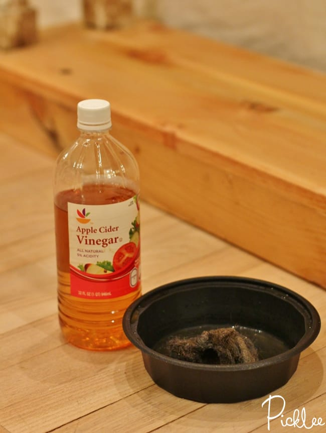 naturally age wood with vinegar