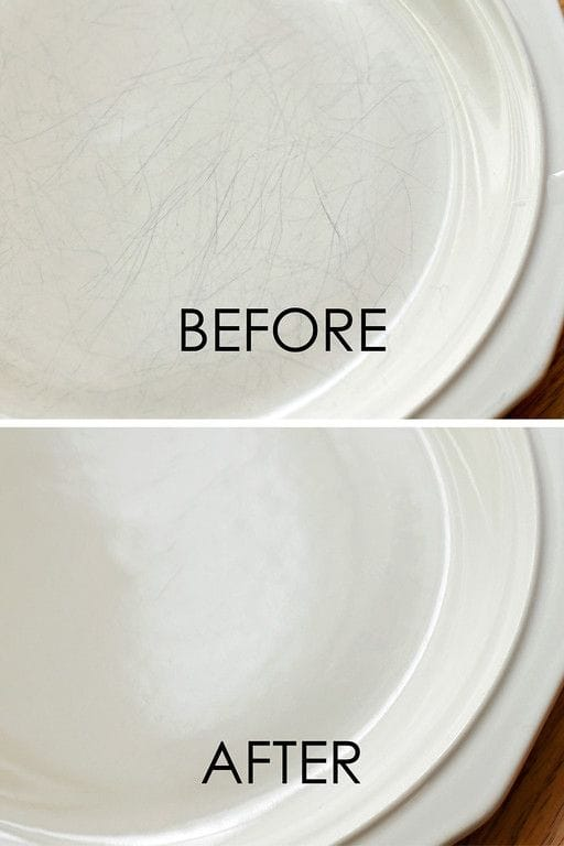 remove plate scratches