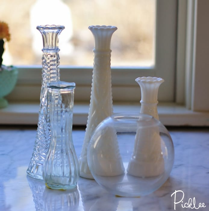 stacked vase candle holders