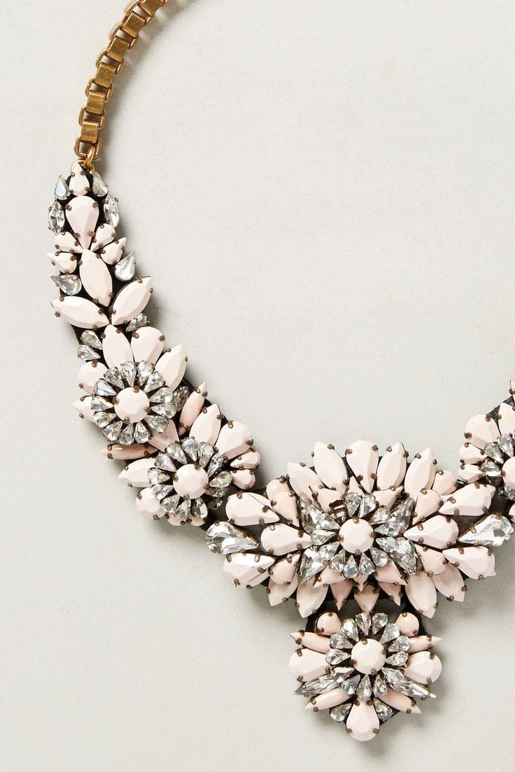 anthro bib necklace