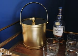 gold ice bucket-spray-paint