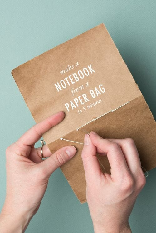 paper bag notebook