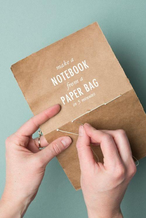 paper bag notebook