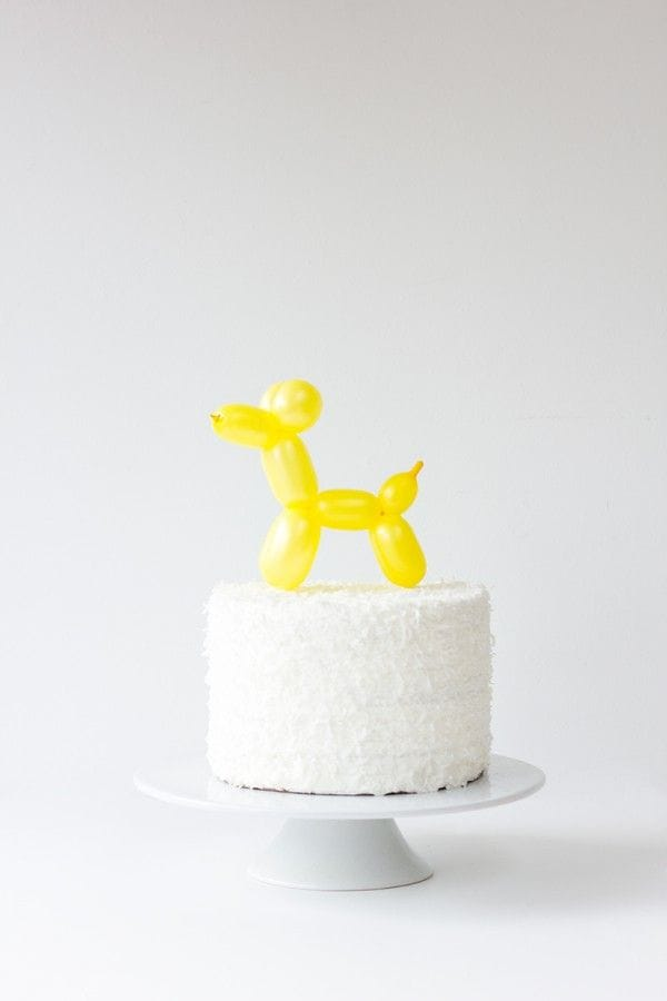 balloon animal cake topper