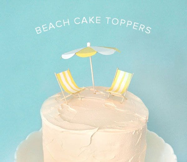 beach cake topper