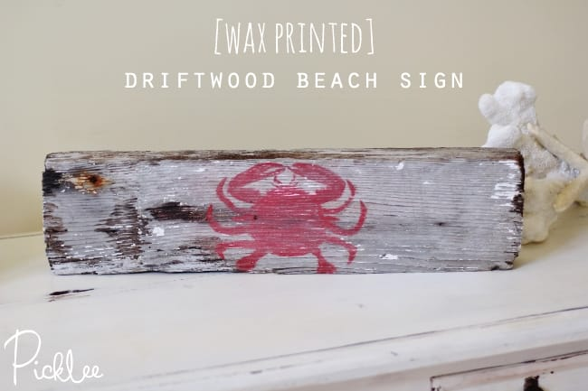 diy driftwood beach sign11