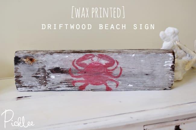 diy driftwood beach sign11