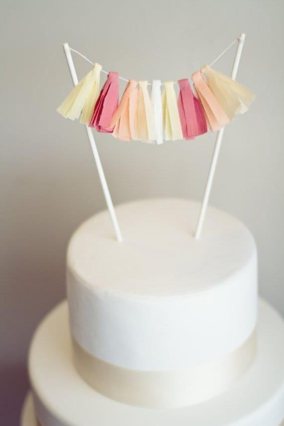flag cake topper