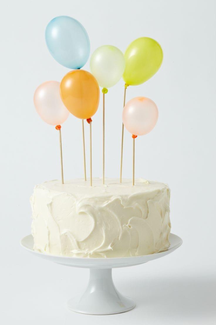mini balloon cake topper