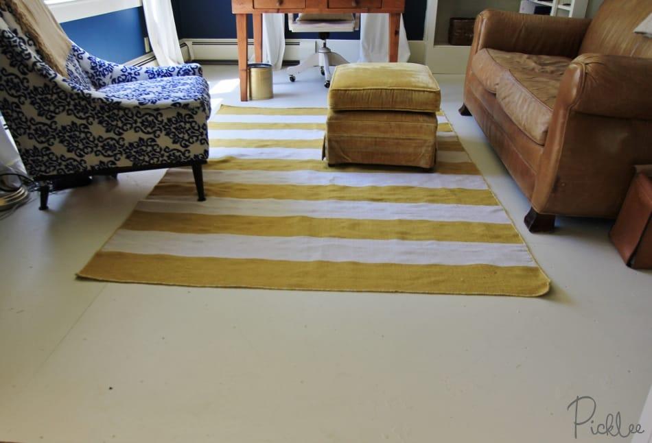 Sub Flooring Plywood ~ Diy painted plywood subfloor picklee
