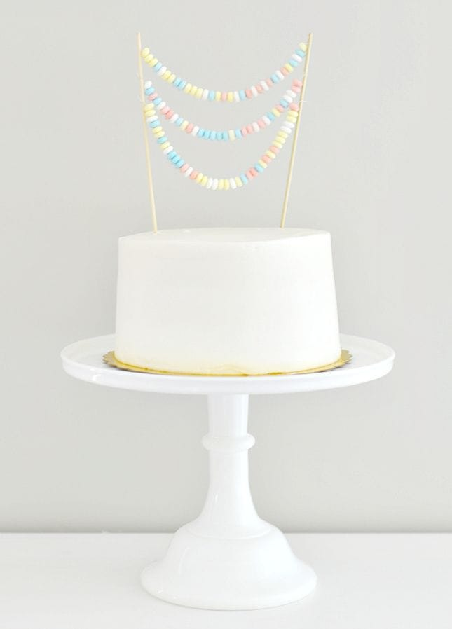 smarties cake topper