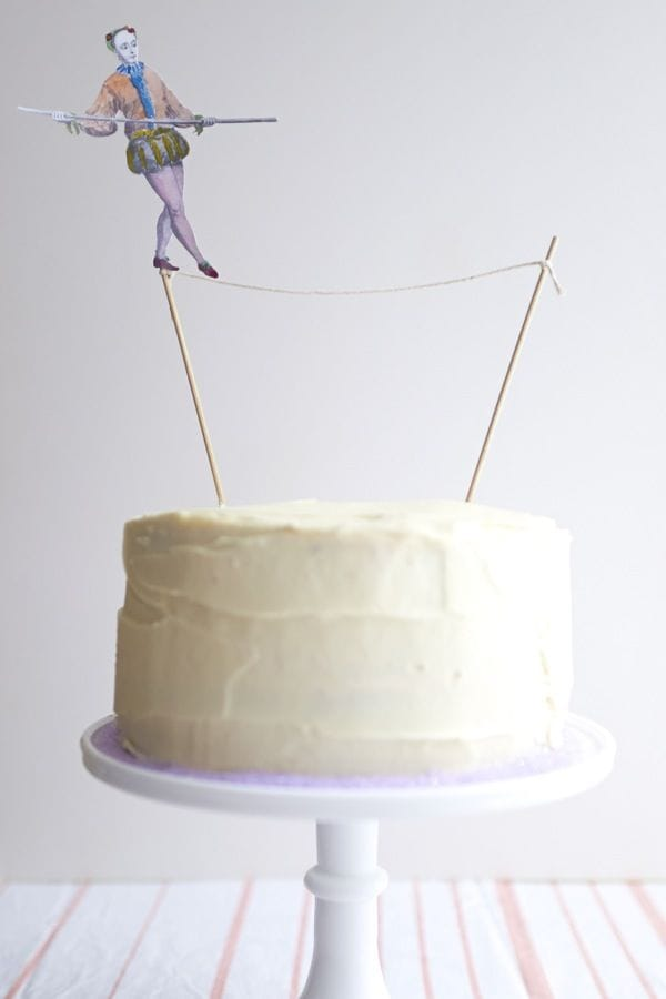 tight rope walker cake topper