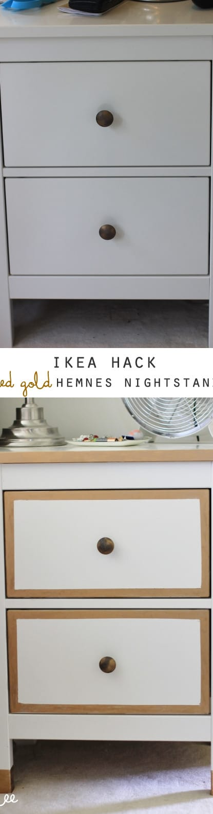 ikea hack nightstands before and after