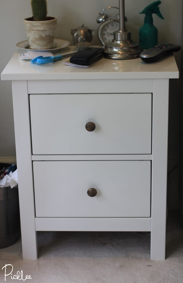 ikea hemnes nightstand hack. Black Bedroom Furniture Sets. Home Design Ideas