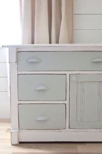 two tone painted dresser