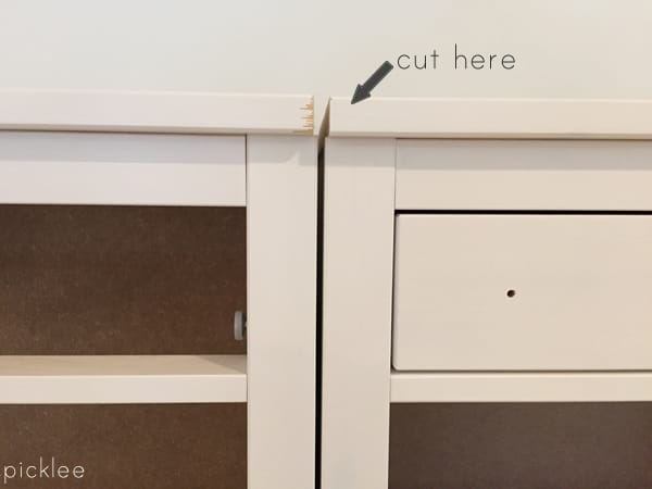 ikea dresser hack-built in