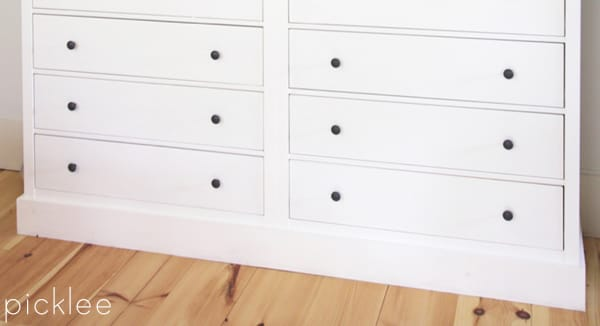 Ikea Hack Built In Ikea Hemnes Wardrobe Dresser Picklee