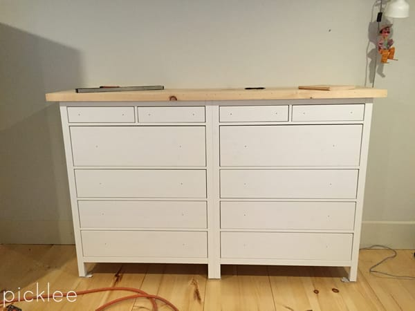 ikea hack built in ikea hemnes wardrobe dresser picklee. Black Bedroom Furniture Sets. Home Design Ideas