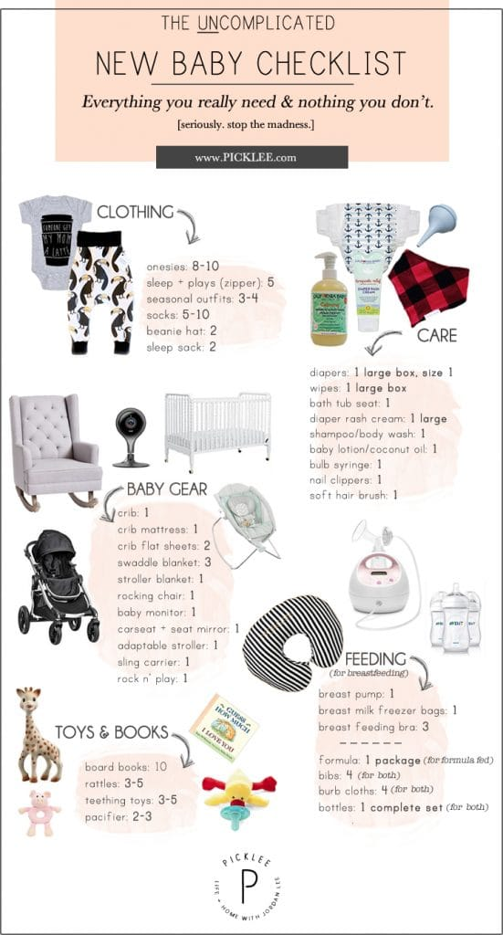 The Uncomplicated + Minimal New Baby Checklist [for New ...